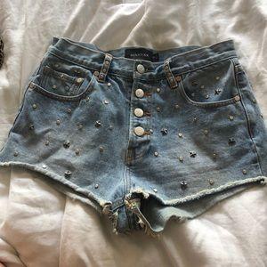 Minkpink studded jean short